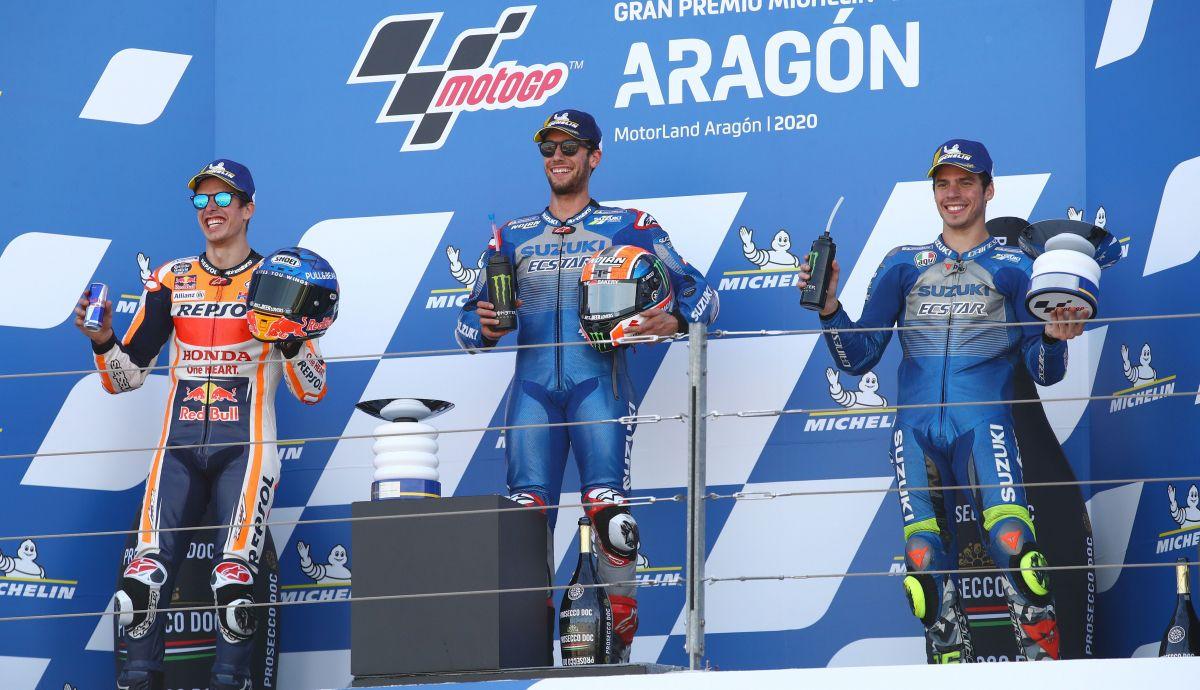 podio motogp aragon
