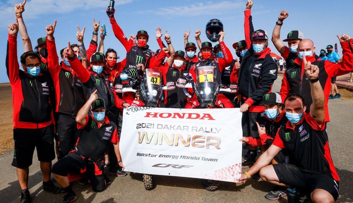 Honda ha logrado un increíble doblete en el Dakar 2021 con Kevin Benavides y Ricky Brabec