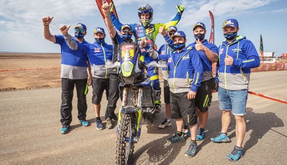 Sherco celebra el histórico sexto puesto final de Lorenzo Santolino en el Dakar
