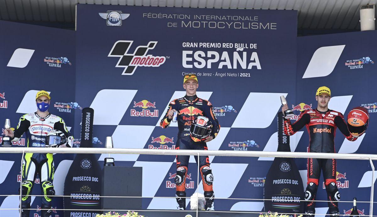 podio moto3 jerez