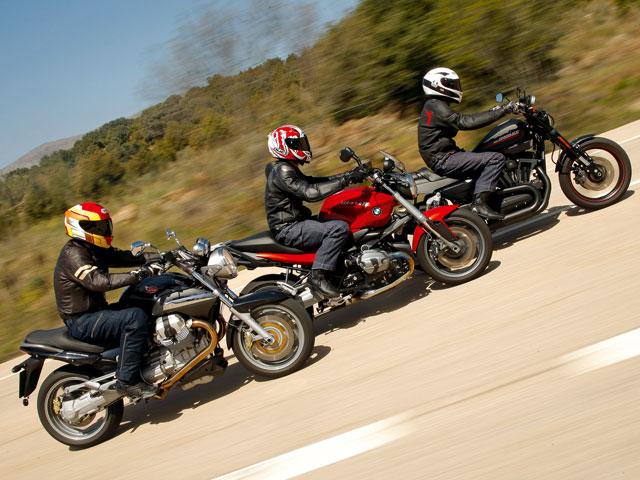 Comparativa BMW R 1200 R, Moto Guzzi Breva 1200 ABS y Harley-Davidson XR1200X
