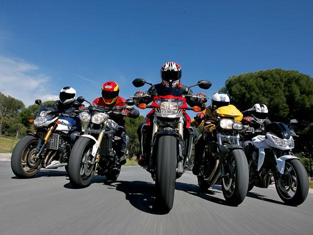 Yamaha FZ8, Suzuki GSR 750, Triumph Street, BMW F 800 R y Kawasaki Z750