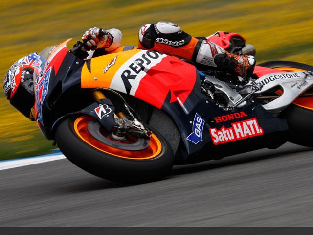 Stoner se estrena con la 1000cc en Jerez