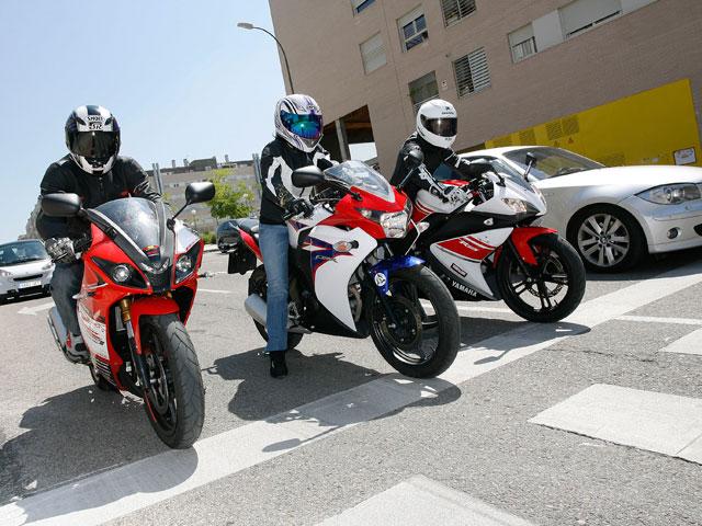 Honda CB 600 F y comparativa motos deportivas 125