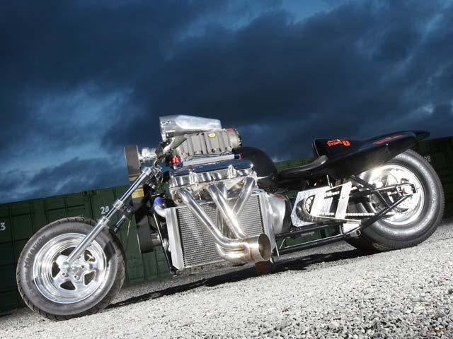 Rapom V8 y Suzuki V-Strom 1000 GT