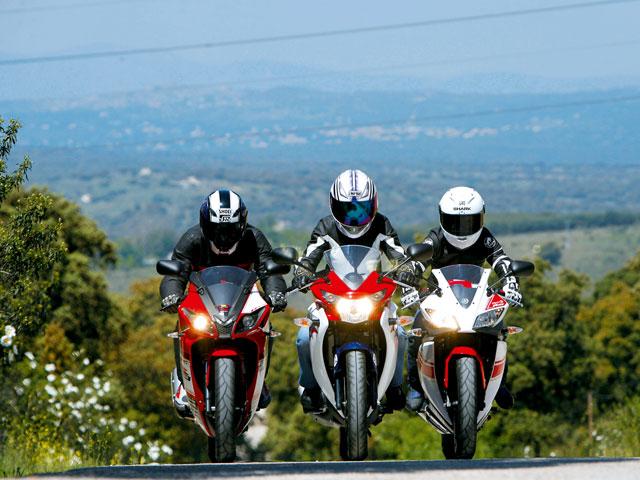 Rieju RS3 125, Honda CBR 125R y Yamaha YZF-R125