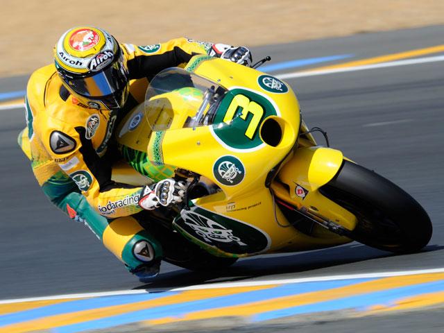Simone Corsi logra el mejor tiempo en Moto2