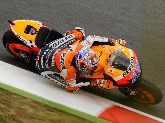 Stoner, de nuevo el mejor en el tercer entrenamiento libre de MotoGP