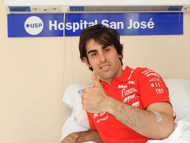 Julián Simón, operado con éxito