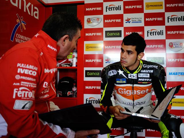 Jordi Torres y David Salom, con el Team Aspar en Moto2 en Mugello