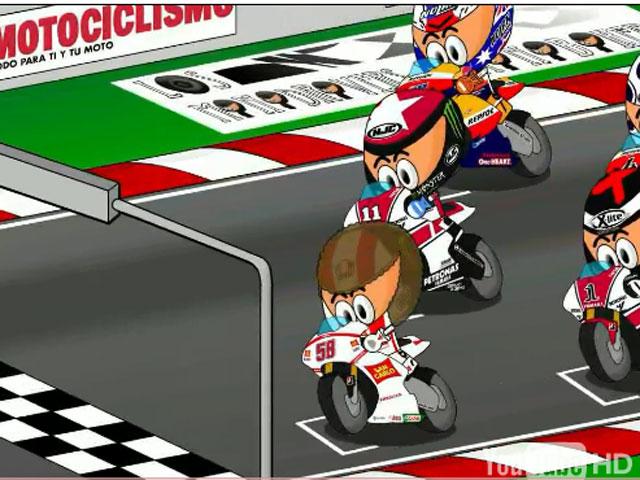 Gran Premio de Holanda en dibujos animados