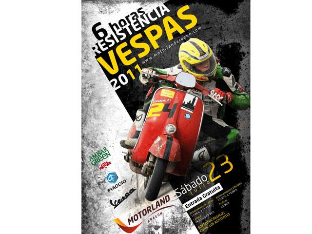 II Edición de las 6h de resitencia de Vespa en Motorland Aragón