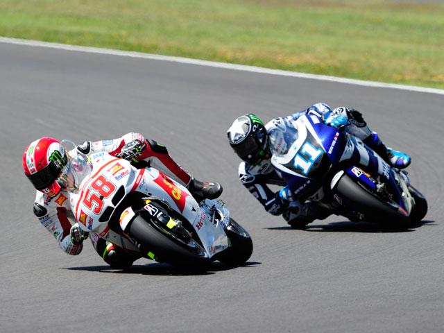 Marco Simoncelli, Nico Terol y Thomas Luthi dominan en Sachsenring