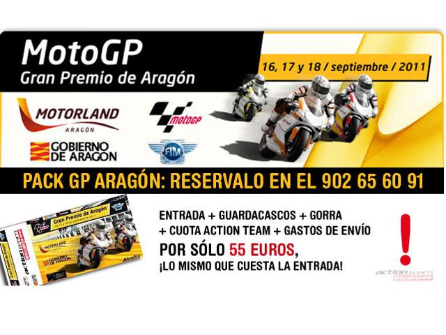 Pack de entradas para el Gran Premio de Aragón de Moto GP