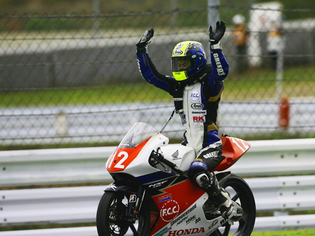 Primera victoria de la Honda de Moto3 en competición