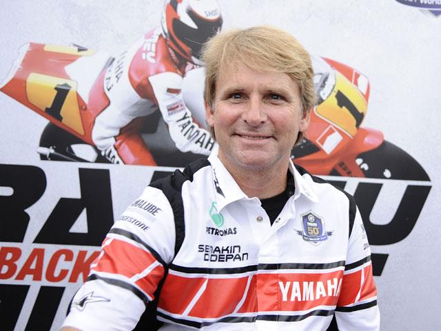 Wayne Rainey visita la fábrica de Yamaha en Italia