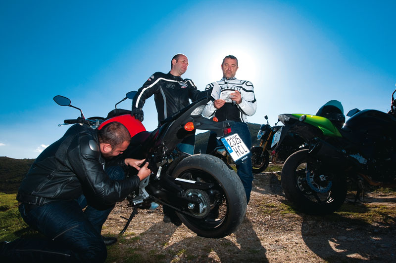 Pon a punto las suspensiones de tu moto, parte práctica