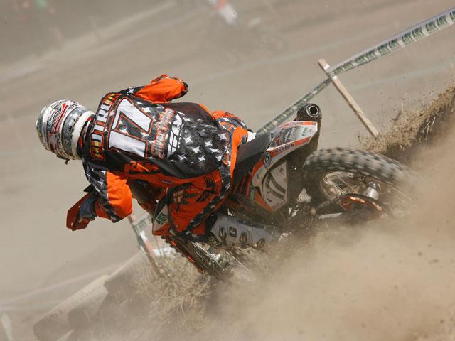 Victoria de Butrón en el Campeonato de España de Motocross