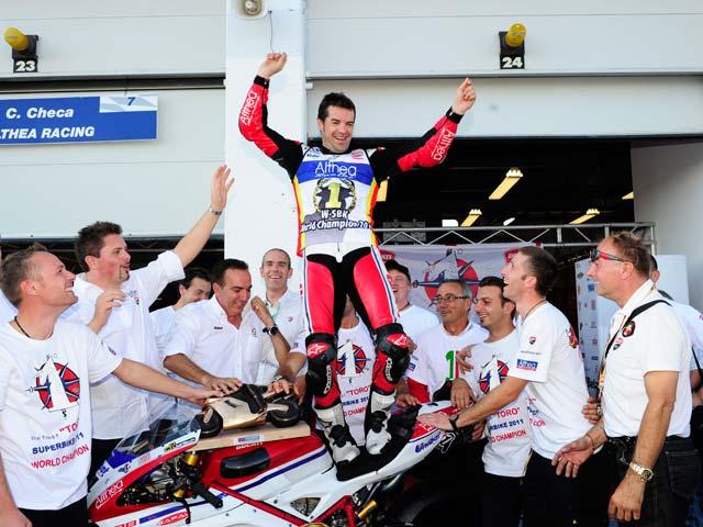 Carlos Checa, campeón del mundo de superbike