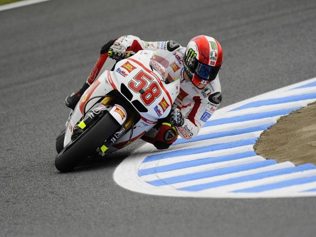 Marco Simoncelli prueba la Honda RC213V de 2012