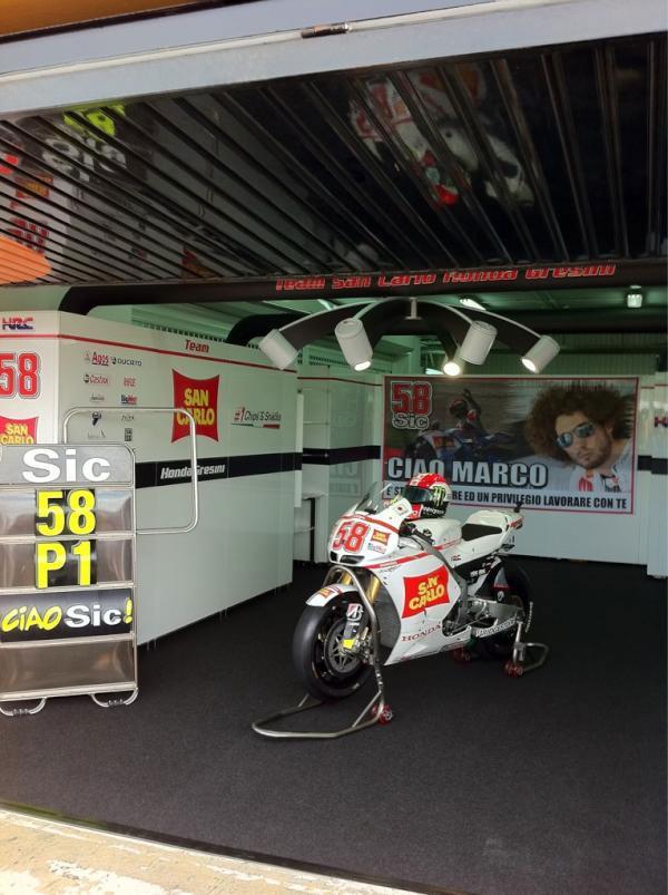 Marco Simoncelli, presente en el Gran Premio de Valencia