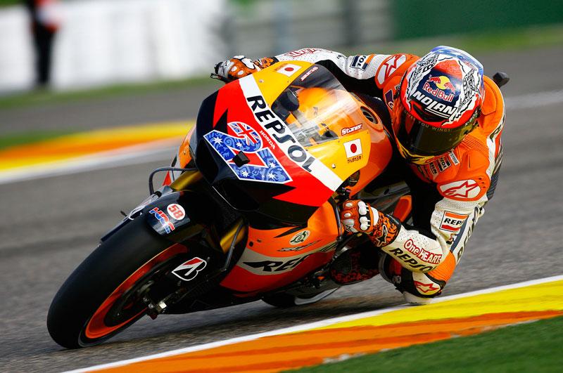 Casey Stoner rueda a otro nivel en los cronometrados del GP de Valencia