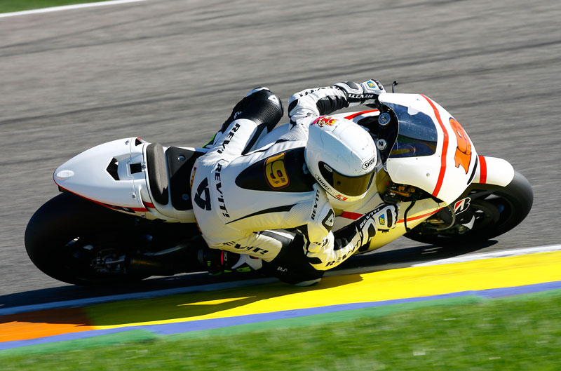 Alvaro Bautista ya rueda con la Honda de Gresini