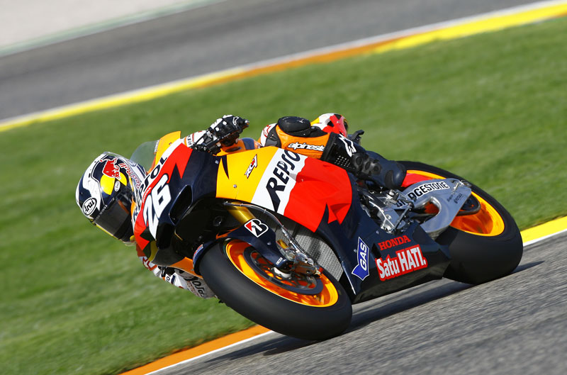 Dani Pedrosa, el más rápido en Cheste
