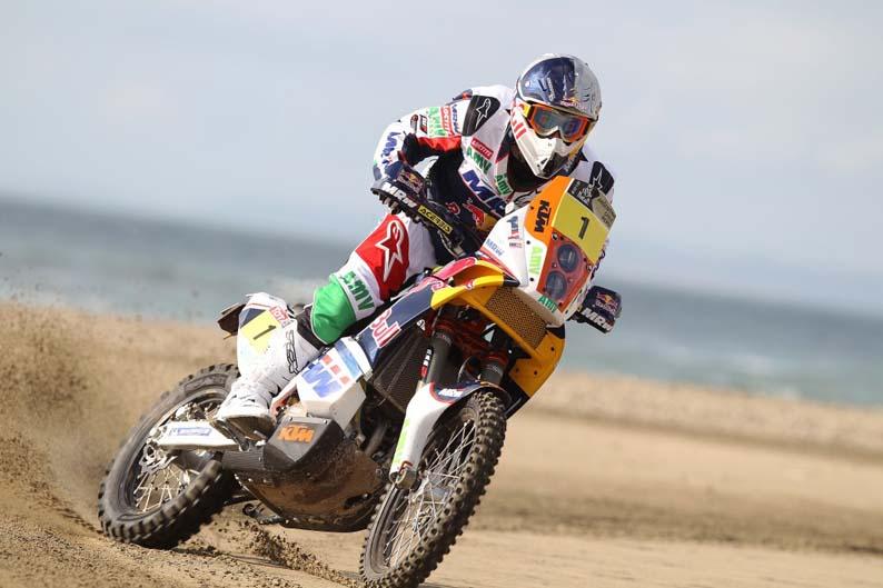 Presentación de las KTM oficiales del Dakar 2012