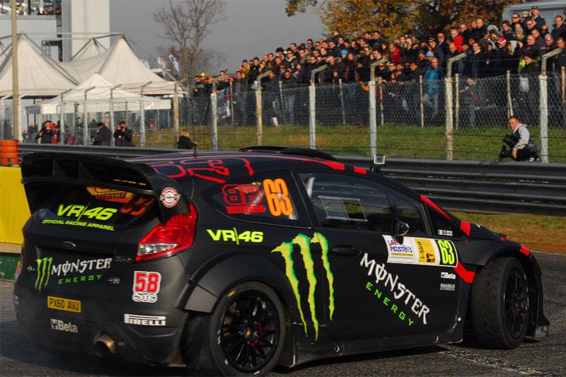 Valentino Rossi, segundo en el Monza Rally Show