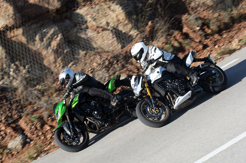 Kawasaki Z750R y Yamaha FZ8 N Sport