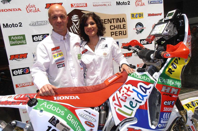 David Serra presenta su equipo para el Dakar 2012