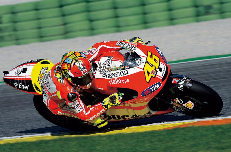 Valentino Rossi en el punto de mira