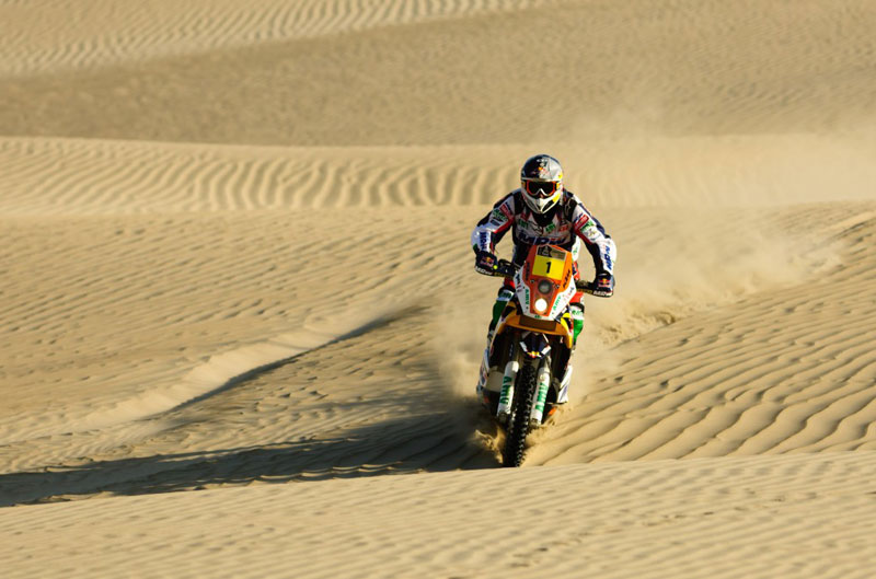 Marc Coma, segundo en el Dakar 2012