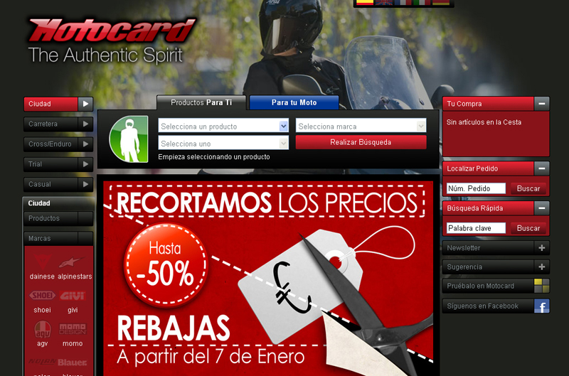 Los outlet de equipamiento de moto en Internet