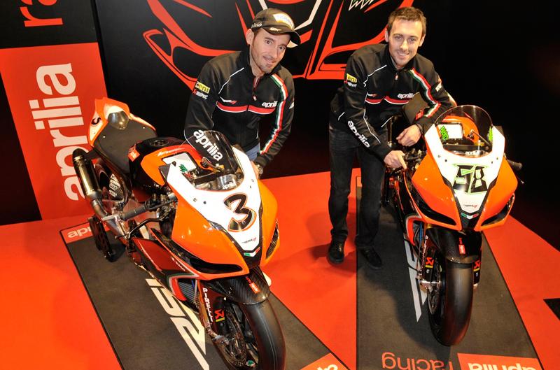 Presentación del equipo Aprilia de Superbike