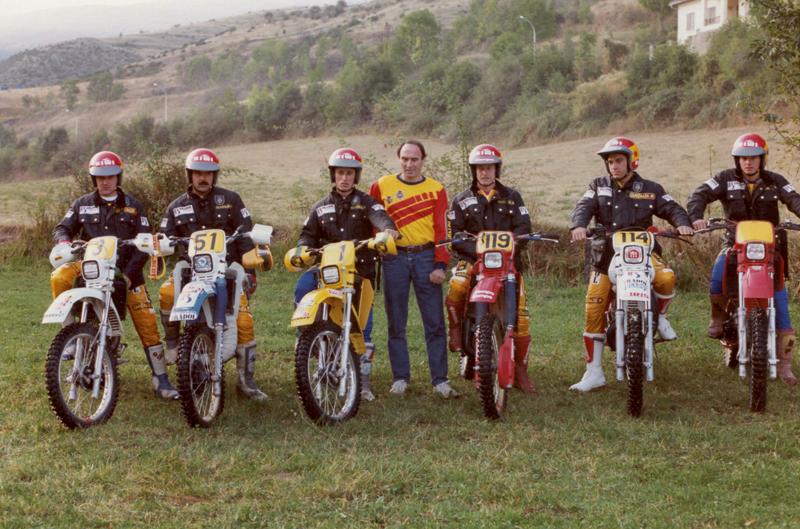 Homenaje a los equipos españoles de los ISDE en el Bassella Race