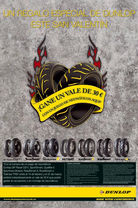 Dunlop te regala un bono de 30 euros por San Valentín