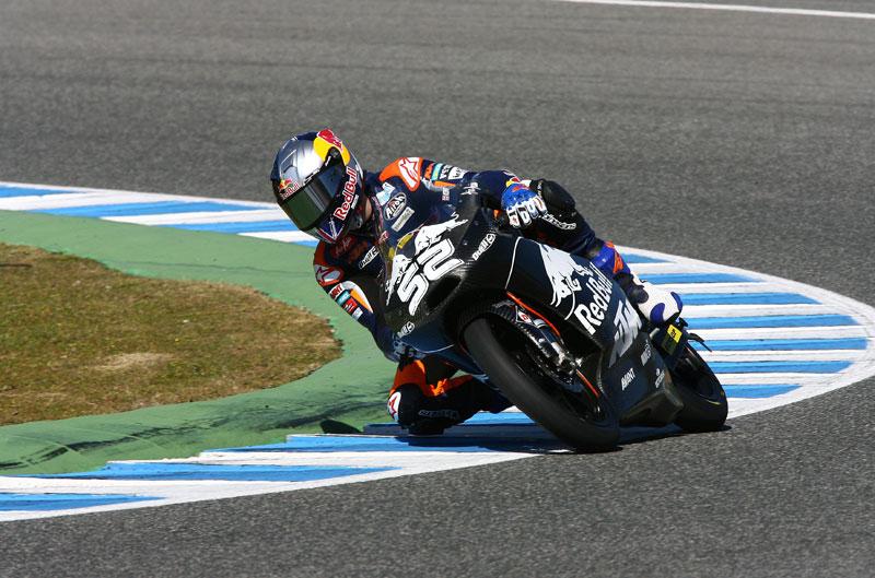 Claudio Corti y Danny Kent lideran el último entrenamiento en Jerez