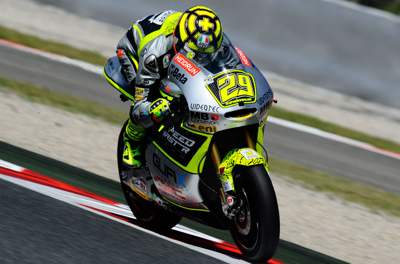 Victoria de Andrea Iannone en el Gran Premio de Cataluña de Moto2