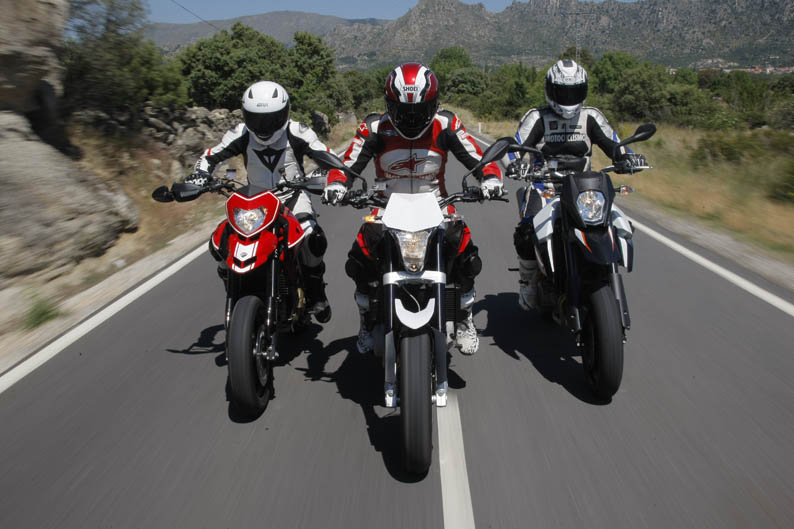 Comparativa Supermotard: Ducati, Husqvarna, KTM