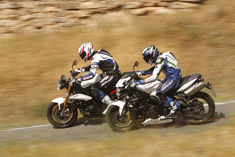 Comparativa Triumph: Speed Triple R y Street Triple R