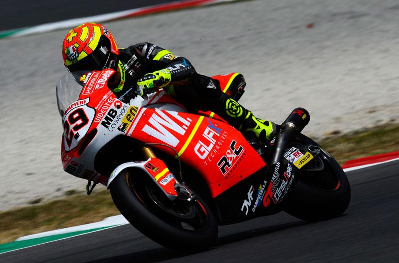 Victoria de Andrea Iannone en el Gran Premio de Italia de Moto2