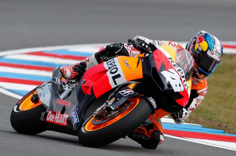 Dani Pedrosa repite primero en el FP2 del GP de la República Checa