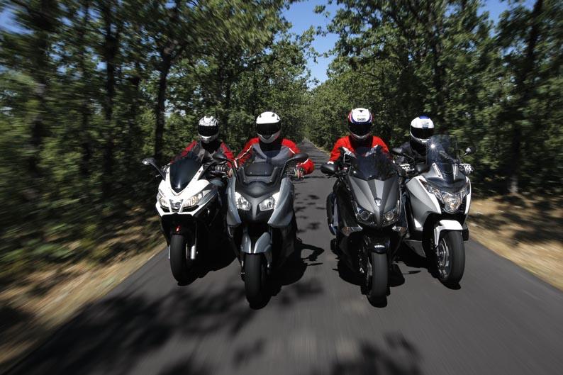 Comparativa Maxiscooter: Honda, Aprilia, BMW y Yamaha