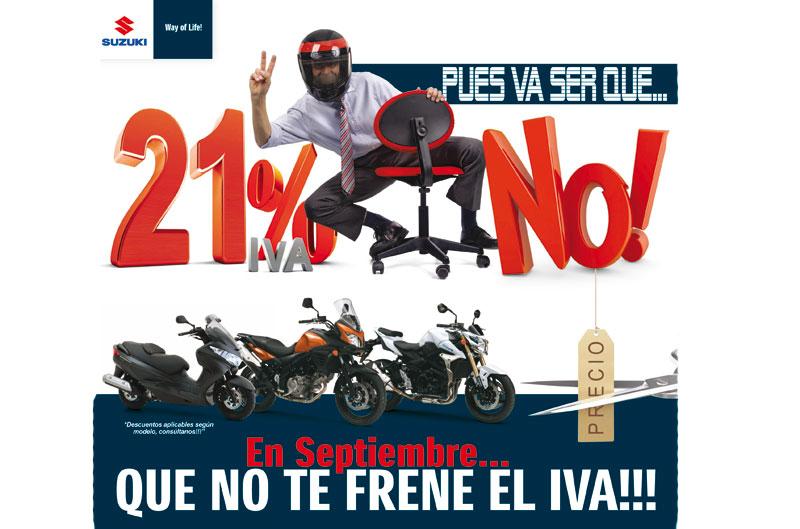 Promociones Suzuki para la campaña del IVA