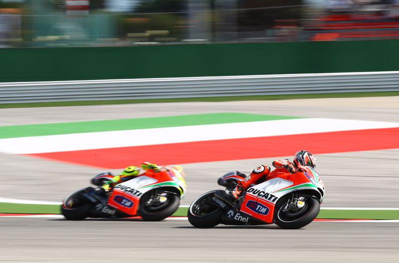 Prometedor test para Ducati en Misano