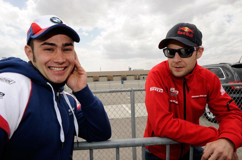 Rea y Haslam, en el equipo Honda de SBK en 2013