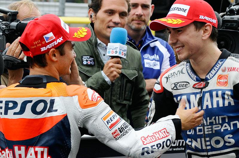 El duelo entre Lorenzo y Pedrosa en el circuito de Honda