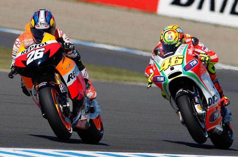 Pedrosa, Márquez y Cortese, los más rápidos en el FP2 del GP de Japón